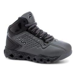 Children's Fila Big Bang 3 Ventilated Basketball Shoe Castlerock/Black/Metallic Silver