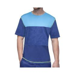 Men's Fila Camo Contrast Crew T-Shirt Blue Depths/Sky Blue/Safety Yellow
