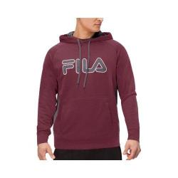 Men's Fila Checker Pullover Winetasting/Castlerock/White