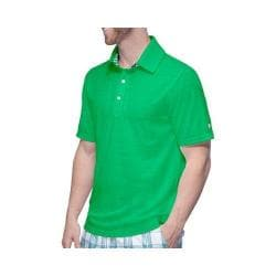 Men's Fila Club Polo Shirt Online Lime/Peacoat Club Plaid