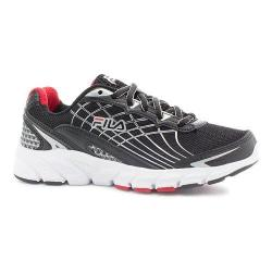Boys' Fila Core Callibration 2 Running Shoe Black/Metallic Silver/Fila Red