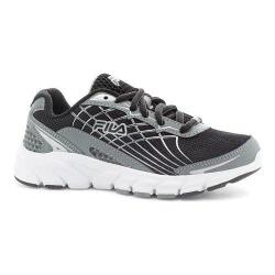 Boys' Fila Core Callibration 2 Running Shoe Monument/Black/Metallic Silver
