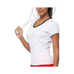 Women's Fila Core Short Sleeve Top White/Black