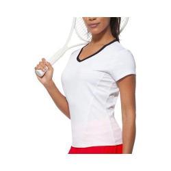 Women's Fila Core Short Sleeve Top White/Peacoat