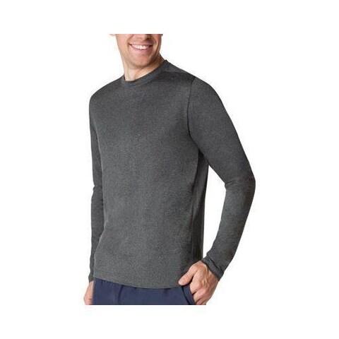 Men's Fila Fundamental Heather Long Sleeve Shirt Black Heather