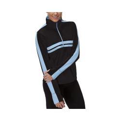 Women's Fila Fila-Ment Half Zip Shirt Black/Lavender Blue/Dazzling Blue