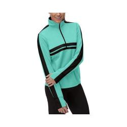 Women's Fila Fila-Ment Half Zip Shirt Emerald Teal/Black/Emerald Green