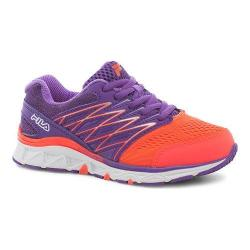 Children's Fila Gallactic Training Shoe Fiery Coral/Electric Purple/White
