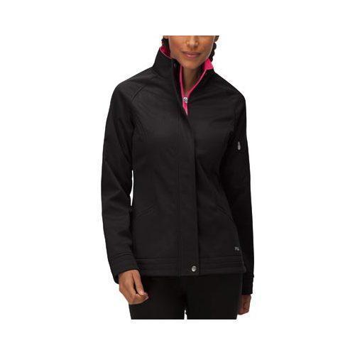 Womens Fila Impressive Bonded Jacket Black/Bright Rose   17821066