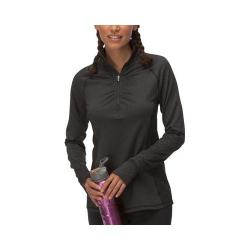 Women's Fila Herringbone Quarter Zip Shirt Black Herringbone/Black