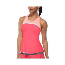 Women's Fila Illusion Cross Back Tank Top Coral Slope/Peach Poise/White