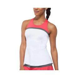Women's Fila Illusion Cross Back Tank Top White/Coral Slope/Castlerock