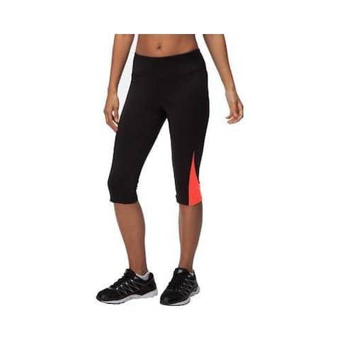 Women's Fila Motion Tight Capri Black/Cherry Tomato