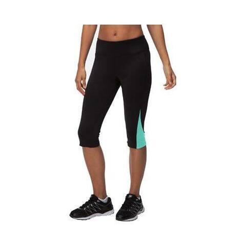 Women's Fila Motion Tight Capri Black/Electric Green