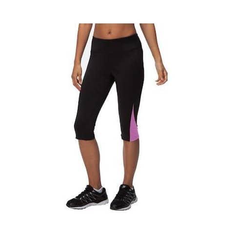 Women's Fila Motion Tight Capri Black/Thistle