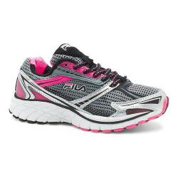 Children's Fila Nitro Fuel Running Shoe Monument/Knockout Pink/Metallic Silver