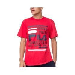 Men's Fila Original Fitness Tee Chinese Red