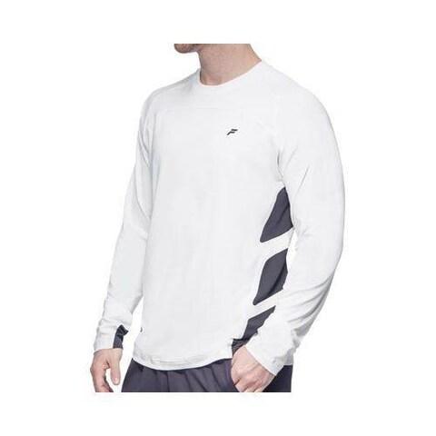 Men's Fila Platinum Long Sleeve Top Shirt White/Nine Iron