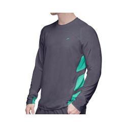 Men's Fila Platinum Long Sleeve Top Shirt Nine Iron/Electric Green