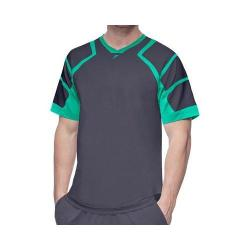Men's Fila Platinum Mesh Shoulder Crew Shirt Nine Iron/Electric Green