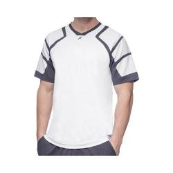 Men's Fila Platinum Mesh Shoulder Crew Shirt White/Nine Iron