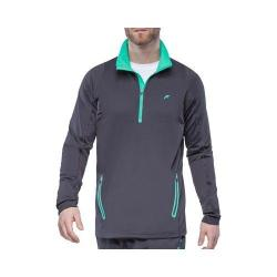 Men's Fila Platinum Quarter Zip Front Jacket Nine Iron/Electric Green