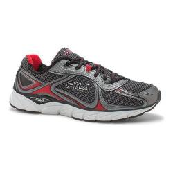 Men's Fila Quadrix Running Shoe Black/Dark Silver/Fila Red