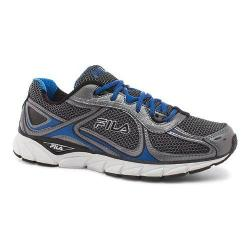 Men's Fila Quadrix Running Shoe Black/Dark Silver/Prince Blue