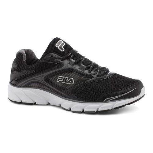 Men's Fila Stir Up Running Shoe Black/Dark Silver/White