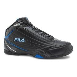 Men's Fila Slam 12C Basketball Shoe Black/Electric Blue Lemonade/Metallic Silver