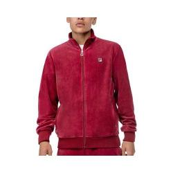 Men's Fila Slim Velour Jacket Biking Red/Biking Red