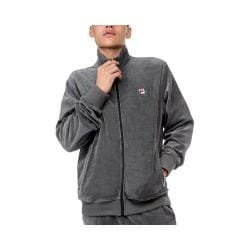Men's Fila Slim Velour Jacket Heather Charcoal/SCHR/Black
