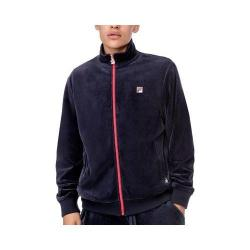 Men's Fila Slim Velour Jacket Peacoat/Peacoat/Peacoat