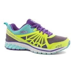 Women's Fila Steelstrike Energized Running Shoe Safety Yellow/Electric Purple/Aruba Blue