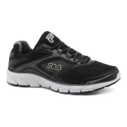 Men's Fila Stir Up Running Shoe Black/Dark Silver/White