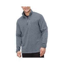 Men's Fila Sweather Half Zip Pullover Black Heather/Black Heather