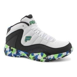 Boys' Fila Sweeper Basketball Shoe White/Black/Prince Blue