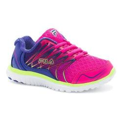 Girls' Fila Swept Training Shoe Pink Glo/Royal Blue/Safety Yellow