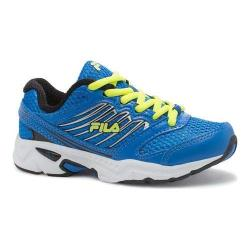 Boys' Fila Tempo 2 Running Shoe Electric Blue Lemonade/Black/Safety Yellow