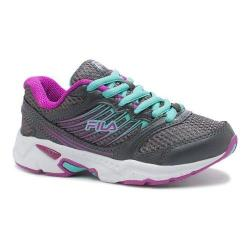 Girls' Fila Tempo 2 Running Shoe Castlerock/Purple Cactus Flower/Cockatoo