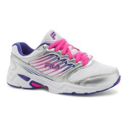 Girls' Fila Tempo 2 Running Shoe White/Royal Blue/Pink Glow