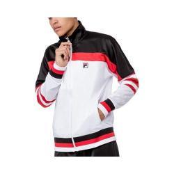 Men's Fila Vintage Jacket White/Black/Chinese Red