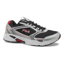 Men's Fila Xtent 2 Running Shoe Black/Metallic Silver/Fila Red