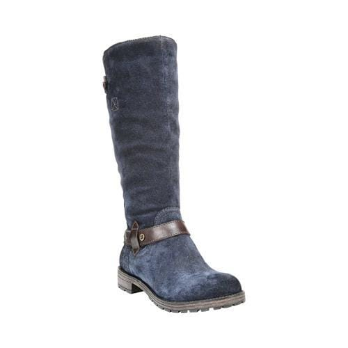 Women's Naturalizer Tanita Wide Calf Boot Classic Navy Suede ...