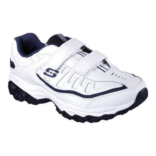Men's Skechers After Burn Memory Fit Final Cut Walking Shoe White/Navy