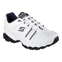 Men's Skechers After Burn Memory Fit Strike On Sneaker White/Navy