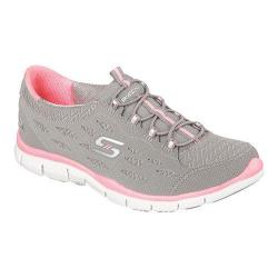 Skechers Women's Gratis Bungee Sneaker Full Circle/Gray/Pink