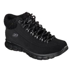 Women's Skechers Synergy Winter Nights Lace Up Shoe Black
