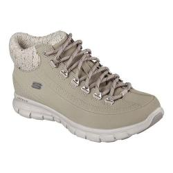 Women's Skechers Synergy Winter Nights Lace Up Shoe Stone
