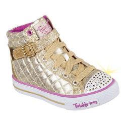 Girls' Skechers Twinkle Toes Shuffles Sweetheart Sole High Top Gold